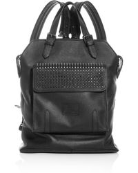 Christian Louboutin Syd Spike Leather Backpack - Lyst