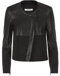 Helmut Lang Motion Leather Combo Jacket - Lyst