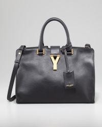 Saint Laurent - Y Ligne Cabas Mini Bag Black - Lyst