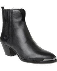B Brian Atwood - Gracey Leather Ankle Boots - Lyst