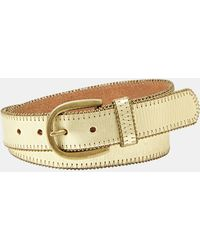 Fossil Beaded Leather Belt - Lyst