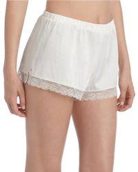 Jessica Simpson Satin Pajama Shorts - Lyst