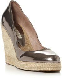 Pied a Terre | Aina Metallic Wedge Court Shoes | Lyst
