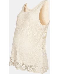 Topshop Lace Maternity Tank - Lyst