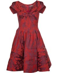 Zac Posen Jacquard Woven Cocktail Dress - Lyst