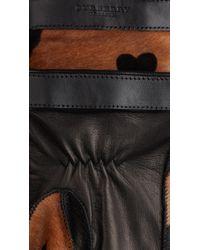 Burberry - Heart Print Calfskin Gloves - Lyst