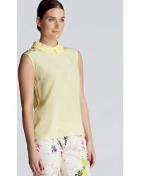 Ted Baker Top Alima Pleated Collar and Back - Lyst