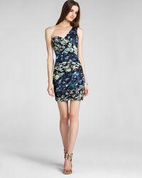 BCBGMAXAZRIA Printed Dress One Shoulder - Lyst