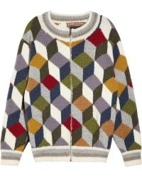 Duro Olowu - Geometricpatterned Wool Cardigan - Lyst