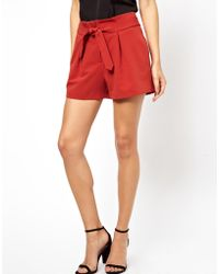 Orla Kiely - Asos Shorts with Belted Waist Detail - Lyst