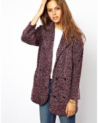 Asos Double Breasted Blazer in Boucle - Lyst