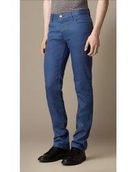 Burberry Steadman Resinated Slim Fit Jeans - Lyst