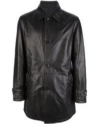 Ermenegildo Zegna Classic Leather Jacket - Lyst
