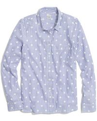 Madewell Dotted Pinstripe Shirt - Lyst