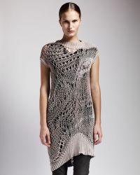 Rick Owens Long Crochet Tunic - Lyst