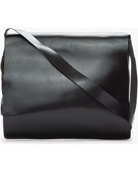 Ann Demeulemeester - Black Leather Alana Messenger Bag - Lyst