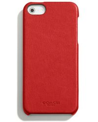Coach Bleecker Leather Molded Iphone 5 Case - Lyst