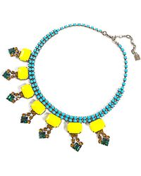 DANNIJO - Indie Crystal Embellished Necklace - Lyst