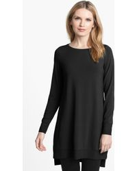 Eileen Fisher Jersey Layering Dress - Lyst