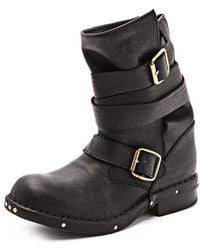 Jeffrey Campbell Brit Wrap Strap Booties - Brown - Lyst
