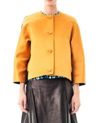 Jonathan Saunders Dree Satin and Wool Jacket - Lyst