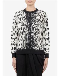Lanvin Leopard Jacquard Woolblend Sweater - Lyst