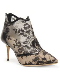 Nicholas Kirkwood Lace Pointed Toe Bootie - Lyst