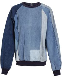 Ashish - Patchwork Denim Sweater - Lyst