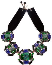 Moutoncollet - Illusion Necklace in Emerald - Lyst