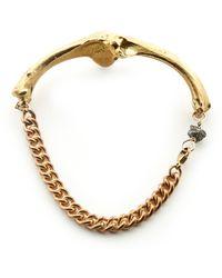 Rachel Entwistle - Bronze Double Bone Bracelet - Last One By - Lyst
