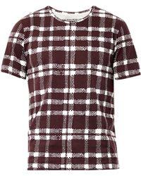 Balenciaga Check-Print T-Shirt - Lyst