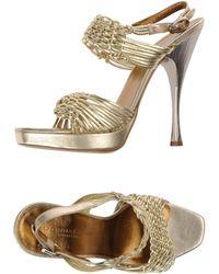 Donna Karan New York Platform Sandals gold - Lyst