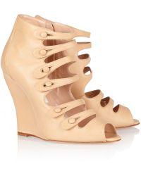 Oscar de la Renta Dakota Nappa Leather Wedge Ankle Boots - Lyst