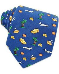 Renato Balestra - Going On Vacation Blue Printed Silk Tie - Lyst