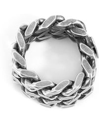 Saint Laurent - Silver Chain Ring - Lyst