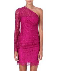 Emilio Pucci Lacedetailed Asymmetric Dress - Lyst