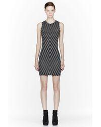 Gareth Pugh Black Striped Short Dress - Lyst
