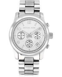 Michael Kors Runway Stainless Steel Women'S Chronograph Watch - Lyst