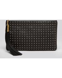B Brian Atwood - Clutch Lana Medium Zip with Crystals - Lyst