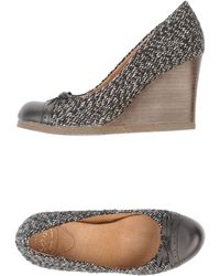 Scholl - Wedge Two-Tone Closed-Toe Slipons - Lyst