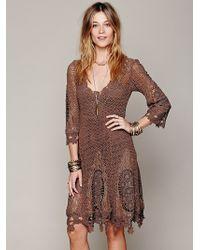 Free People Mi Amore Lace Dress - Lyst