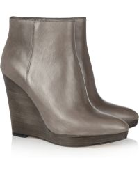 Kors by Michael Kors - Shailym Leather Wedge Ankle Boots - Lyst