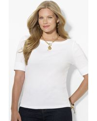 Lauren by Ralph Lauren Cotton Top - Lyst