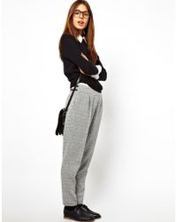 Lazy Oaf | Asos High Waist Pants in Check | Lyst