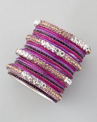 Chamak by Priya Kakkar - Set Of 20 Glitter Crystal Bangles - Lyst