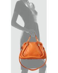 Chloé Paraty Medium Shoulder Bag Orange - Lyst