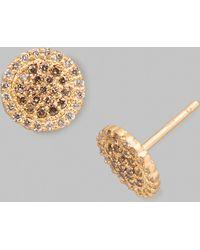 Jamie Wolf - Scalloped-edge White/cognac Diamond Stud Earrings - Lyst
