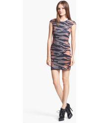 McQ by Alexander McQueen Tiger Print Dress - Lyst