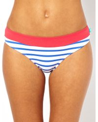 Stussy - Stripe and Contrast Banded Hipster Bikini Brief - Lyst