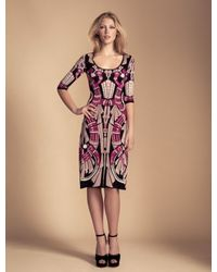 Temperley London Charm Intarsia Flared Dress - Lyst